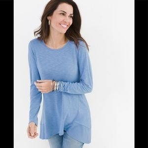 Chico's Women's RIBBED TUNIC Long Sleeve  Size 1